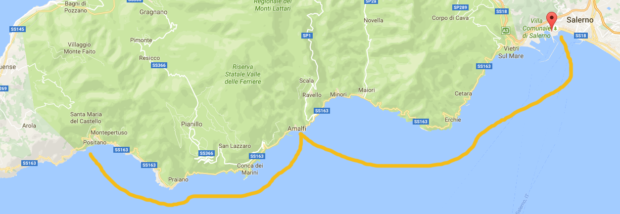Journey Tour on Boat Amalfi Coast