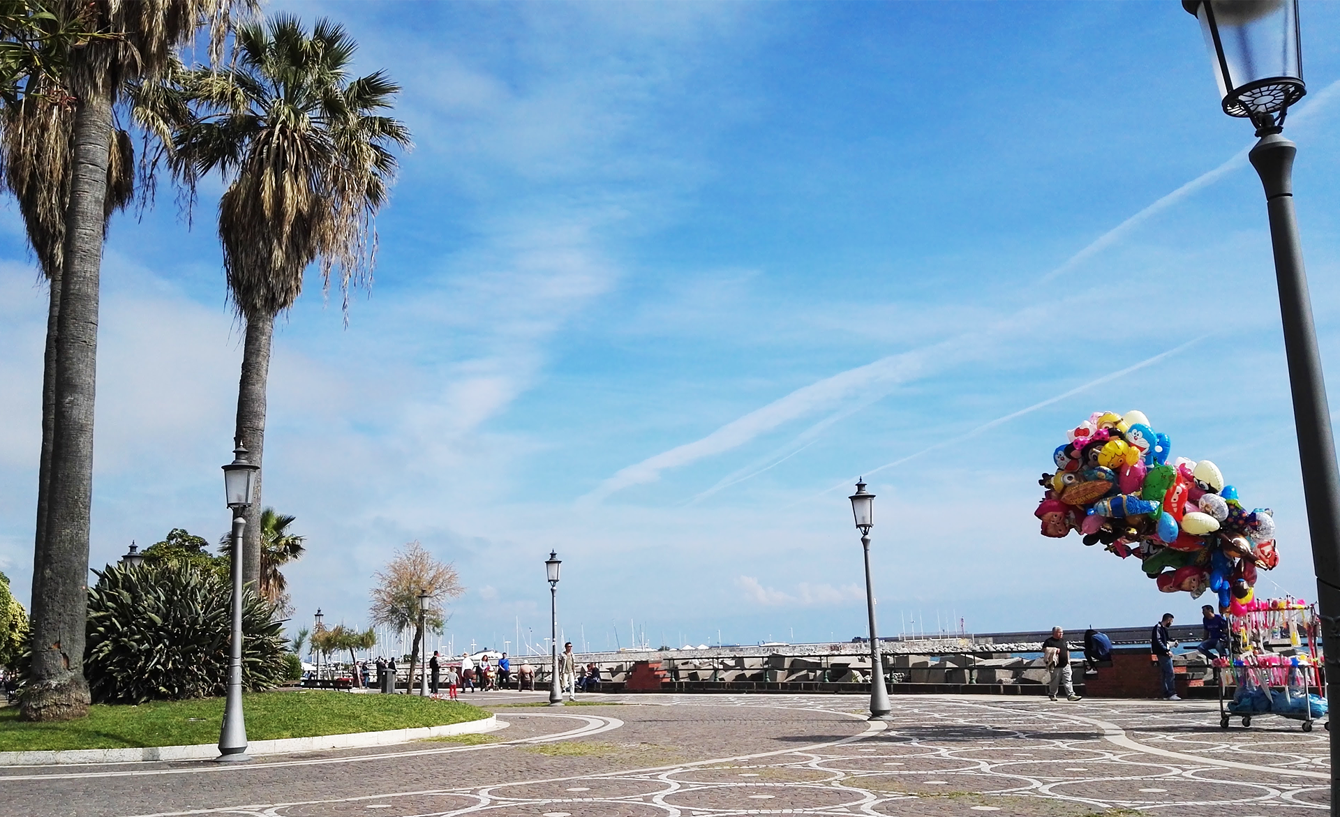 Salerno Lungomare Sea side promenade